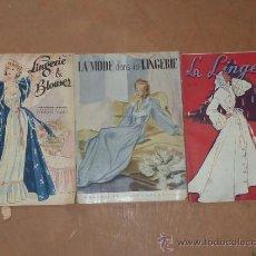 Coleccionismo de Revistas y Periódicos: LOTE DE 3 REVISTA DE MODA FRANCESAS, MUY ANTIGUAS. . Lote 33812849