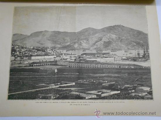 LA ILUSTRACION ESPAÑOLA Y AMERICANA. 1886.GRABADO VISTA DEL PUERTO DE CARTAGENA(MURCIA) (Coleccionismo - Revistas y Periódicos Antiguos (hasta 1.939))