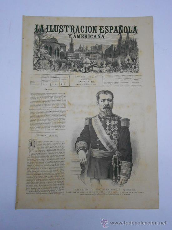 Coleccionismo de Revistas y Periódicos: LA ILUSTRACION ESPAÑOLA Y AMERICANA. 1886.GRABADO VISTA DEL PUERTO DE CARTAGENA(MURCIA) - Foto 2 - 33824321