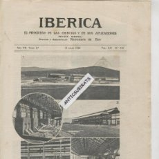 Coleccionismo de Revistas y Periódicos: REVISTA.IBERICA.AÑO 1920.339.TALLERES REINOSA.SOCIEDAD DE CONSTRUCCION NAVAL.NAVEGACION POR EL EBRO.. Lote 33827709