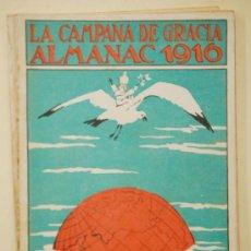 Coleccionismo de Revistas y Periódicos: ALMANAC LA CAMPANA DE GRACIA 1916. ALMANAQUE. ALMANACH. Lote 33927343