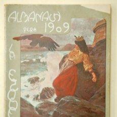 Coleccionismo de Revistas y Periódicos: ALMANAC L'ESQUELLA DE LA TORRATXA 1909. ALMANAQUE. ALMANACH. Lote 33928931