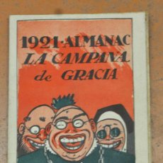 Coleccionismo de Revistas y Periódicos: ALMANAC LA CAMPANA DE GRACIA 1921. ALMANAQUE. ALMANACH. Lote 33930196