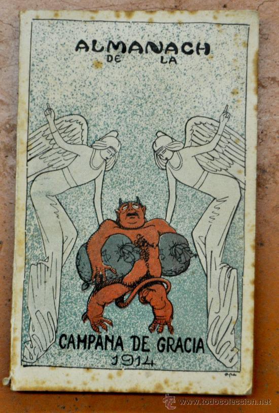 ALMANAC LA CAMPANA DE GRACIA 1914. ALMANAQUE. ALMANACH (Coleccionismo - Revistas y Periódicos Antiguos (hasta 1.939))