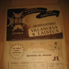 Coleccionismo de Revistas y Periódicos: JOYERIA VILLANUEVA Y LAISECA CONDECORACIONES/LA MARINA ES NUESTRA GUERRA HOJA DE REVISTA A B C 1949. Lote 33936072