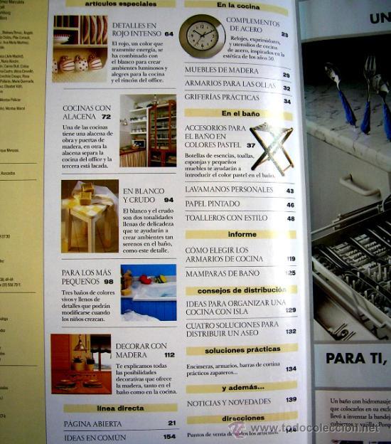 Coleccionismo de Revistas y Periódicos: REVISTA EL MUEBLE. Nº 3 COCINAS - BAÑOS. COCINA AL JARDIN. MADERA EN COCINA Y BAÑO. NÚM. EXTRA. - Foto 3 - 33955455