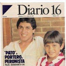 Coleccionismo de Revistas y Periódicos: DOMINICAL DIARIO 16 -DOMINGO 13 DE OCTUBRE DE 1985-N.212. Lote 34074277