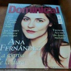 Coleccionismo de Revistas y Periódicos: REV.2/2000 DOMINICAL ANA FERNANDEZ,ALBUM/ POSTER DE CRISTINA AGUILERA,JOSE EL FRANCÉS,INDRIG RUBIO. Lote 34087392