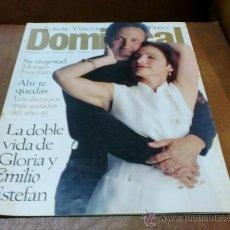Coleccionismo de Revistas y Periódicos: REV.1/1996 DOMINICAL.GLORIA ESTEFAN(ALBUM/ POSTER DE VICENT PÉREZ,ENRIQUE IGLESIAS,MORGAN FREEMAN. Lote 54735480