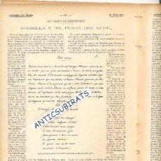 Coleccionismo de Revistas y Periódicos: REVISTA.AÑO 1901.ZORRILLA.EL PUÑAL DEL GODO.PUBLICIDAD COCHE CLEMENT.PARIS.MOTOR PANHARD.AUTOMOVIL.. Lote 34125730