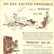 Coleccionismo de Revistas y Periódicos: * FOTOGRAFÍA * PUBLICIDAD CÁMARA FOTOGRÁFICA KODAK SIX-20 - 1933. Lote 271153863