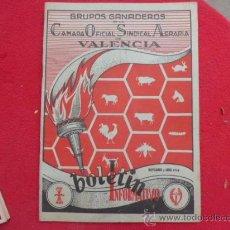 Coleccionismo de Revistas y Periódicos: LIBRO GRUPOS GANADEROS DE LA CAMARA OFICIAL SINDICAL AGRARIA DE VALENCIA NOV Y ABR 1958 R-36. Lote 34228346