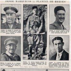 Coleccionismo de Revistas y Periódicos: MARRUECOS 1924 TENIENTE CORONEL DE REGULARES MUERTO HOJA REVISTA. Lote 34223298