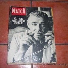 Colecionismo de Revistas e Jornais: PARIS MATCH Nº 607, CLARK GABLE, LIZ TAYLOR, ARTHUR Y MARILYN SE SEPARAN. Lote 34735615