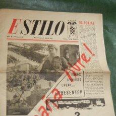 Coleccionismo de Revistas y Periódicos: ESTILO - ORGANO DEL SEU SINDICATO ESPAÑOL UNIVERSITARIO - AÑO II NUM.13, DE 19 ABRIL 1945. Lote 34344688
