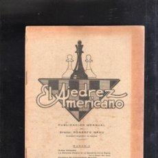 Coleccionismo de Revistas y Periódicos: AJEDREZ AMERICANO. REVISTA MENSUAL. AÑO I. MAYO 1928. Nº 8. BUENOS AIRES.. Lote 34421851
