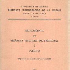 Coleccionismo de Revistas y Periódicos: MINISTERIO DE MARINA INSTITUTO HIDROGRAFICO SECCION NAUTICA CADIZ REGLAMENTO DEL PUERTO 1971. Lote 34698491