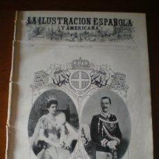 Coleccionismo de Revistas y Periódicos: ILUSTRACION ESPAÑOLA/AMERICANA (15/01/09) MADRID AEROSTATO GLOBO MESSINA SICILIA. Lote 34488343