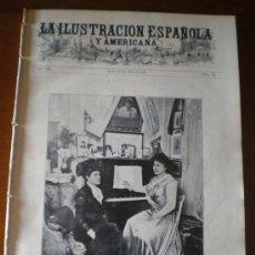 Coleccionismo de Revistas y Periódicos: ILUSTRACION ESPAÑOLA/AMERICANA (22/01/09) ZARAGOZA BARCELONA HOSPITAL ALICANTE COULLAUT BAILE ROSSI. Lote 34488596