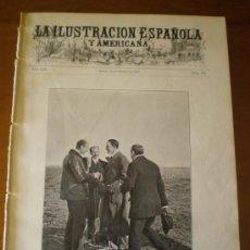 Coleccionismo de Revistas y Periódicos: ILUSTRACION ESPAÑOLA/AMERICANA (22/02/09) VILLAVICIOSA PASAJES GUIPUZCOA EL ESCORIAL CORDOBA CUBAA. Lote 34489968