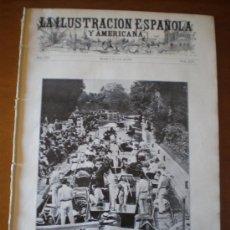 Coleccionismo de Revistas y Periódicos: ILUSTRACION ESPAÑOLA/AMERICANA (08/07/09) GUADALAJARA VALENCIA EXPOSICION REGIONAL CONDE DE LLANES. Lote 34492429