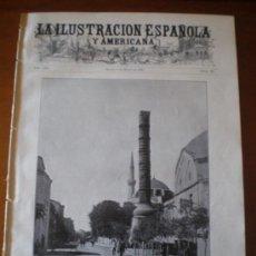 Coleccionismo de Revistas y Periódicos: ILUSTRACION ESPAÑOLA/AMERICANA (08/03/09) LINARES POMBO MADRID BARCELONA ICTIOGENIA HENDRICH MOYANO. Lote 34492580