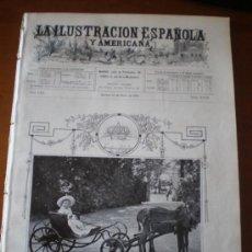 Coleccionismo de Revistas y Periódicos: ILUSTRACION ESPAÑOLA/AMERICANA (15/05/09) DUQUE DE ZARAGOZA MADRID PLACIDO FRANCES SOMBRERO TREN . Lote 34498209