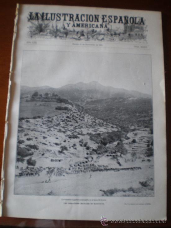 ILUSTRACION ESPAÑOLA/AMERICANA (22/09/09) MELILLA CHEREGUINI MARRUECOS QUEDANA LARREA SARASATE (Coleccionismo - Revistas y Periódicos Antiguos (hasta 1.939))