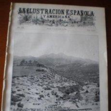 Coleccionismo de Revistas y Periódicos: ILUSTRACION ESPAÑOLA/AMERICANA (22/09/09) MELILLA CHEREGUINI MARRUECOS QUEDANA LARREA SARASATE. Lote 34510422