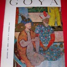 Coleccionismo de Revistas y Periódicos: REVISTA DE ARTE GOYA Nº 55 1963. Lote 34513829