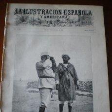 Coleccionismo de Revistas y Periódicos: ILUSTRACION ESPAÑOLA/AMERICANA (22/10/09) ARMADA MELILLA MARRUECOS SANTIAGO ARQUEOLOGIA DIRIGIBLE. Lote 34514001