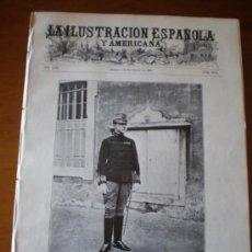 Coleccionismo de Revistas y Periódicos: ILUSTRACION ESPAÑOLA/AMERICANA (08/11/09) PORTUGAL DIRIGIBLE TEATRO REAL ARMADA MELILLA TRES FORCAS. Lote 34514386