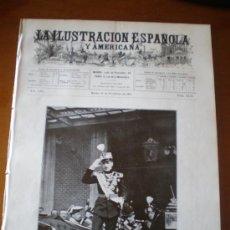 Coleccionismo de Revistas y Periódicos: ILUSTRACION ESPAÑOLA/AMERICANA (15/11/09) PORTUGAL DIRIGIBLE MARRUECOS TEATRO ZARZUELA SANTANDER. Lote 34514699
