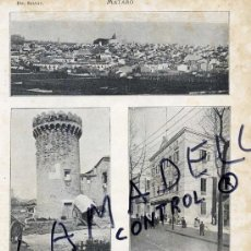 Coleccionismo de Revistas y Periódicos: MATARO 1906-1914 VISTAS HOJA REVISTA. Lote 34530484