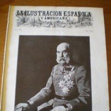 Coleccionismo de Revistas y Periódicos: ILUSTRACION ESPAÑOLA/AMERICANA (22/08/10) ANTEQUERA BIARRITZ COMPAÑIA VALENCIANA DE NAVEGACION . Lote 34532486
