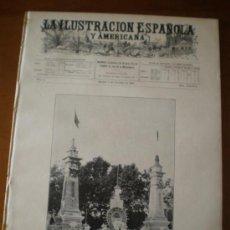 Coleccionismo de Revistas y Periódicos: ILUSTRACION ESPAÑOLA/AMERICANA (08/10/06) VALLADOLID MADRID INCENDIO CHILE VALPARAISO AEROSTATICO. Lote 34556348