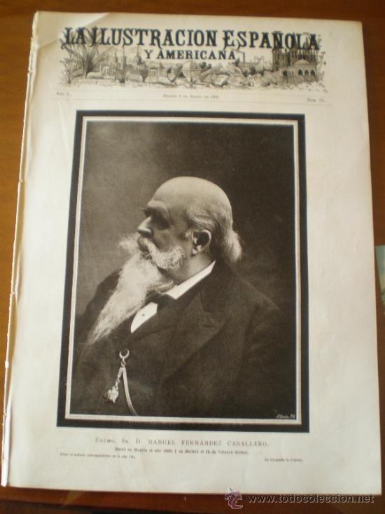 ILUSTRACION ESPAÑOLA/AMERICANA (08/03/06) ALBUFERA VALENCIA POLANCA SANTANDER CARNAVAL DE MADRID (Coleccionismo - Revistas y Periódicos Antiguos (hasta 1.939))