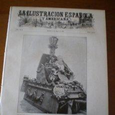 Coleccionismo de Revistas y Periódicos: ILUSTRACION ESPAÑOLA/AMERICANA (15/5/05) QUIJOTE MADRID CERVANTES FERRARI RUSIA JAPON ARMADA LUSTONO. Lote 34586815