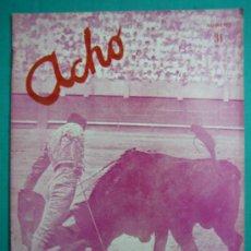 Coleccionismo de Revistas y Periódicos: REVISTA AMERICANA TAURINA INDEPENDIENTE ACHO LIMA (PERÚ) MARZO 1946. N 31. Lote 34636851