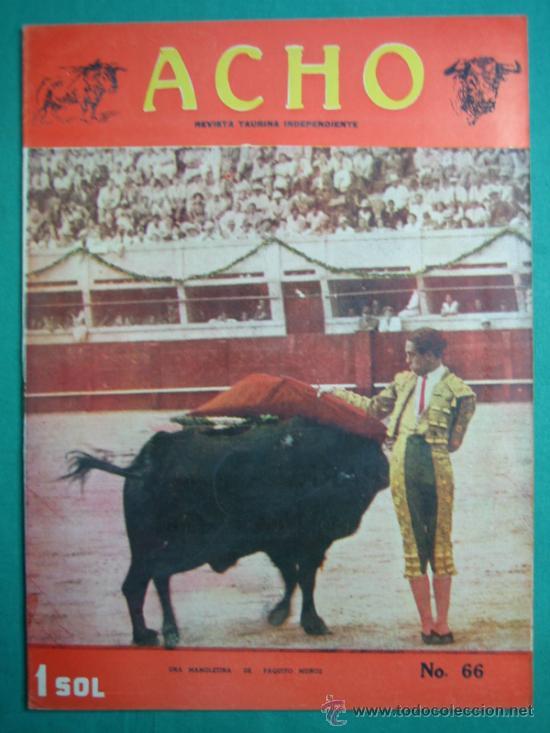 REVISTA AMERICANA TAURINA INDEPENDIENTE ACHO LIMA (PERÚ) MARZO 1948. N 66 (Coleccionismo - Revistas y Periódicos Modernos (a partir de 1.940) - Otros)