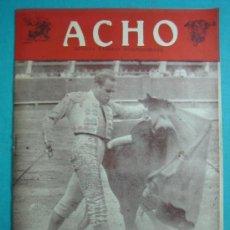 Coleccionismo de Revistas y Periódicos: REVISTA AMERICANA TAURINA INDEPENDIENTE ACHO LIMA (PERÚ) 1952. Lote 52583406