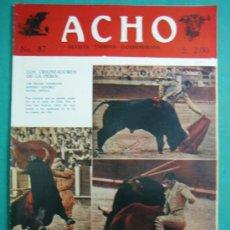 Coleccionismo de Revistas y Periódicos: REVISTA AMERICANA TAURINA INDEPENDIENTE ACHO LIMA (PERÚ) 1952. N 87. Lote 34637219