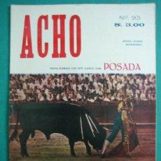 Coleccionismo de Revistas y Periódicos: REVISTA AMERICANA TAURINA INDEPENDIENTE ACHO LIMA (PERÚ) 1953. N 93. Lote 34637248