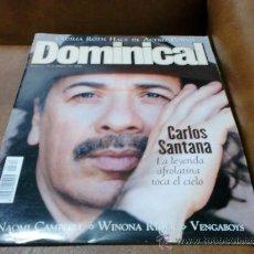 Coleccionismo de Revistas y Periódicos: REV.34/2000 DOMINICAL-CARLOS SANTANA- GRAN RPTJE.N- CAMPBELL,VICTORIA PREGO,C.ROTH. Lote 34664676