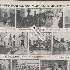 Coleccionismo de Revistas y Periódicos: REVISTA AÑO 1907 MOTINES MANIFESTACIONES OBRERAS ALICANTE SAGUNTO FUTBOL MADRID . Lote 34758000