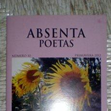 Coleccionismo de Revistas y Periódicos: ABSENTA POETAS Nº10;PRIMAVERA 2012;ABSENTA 2012;¡NUEVA!. Lote 34820381