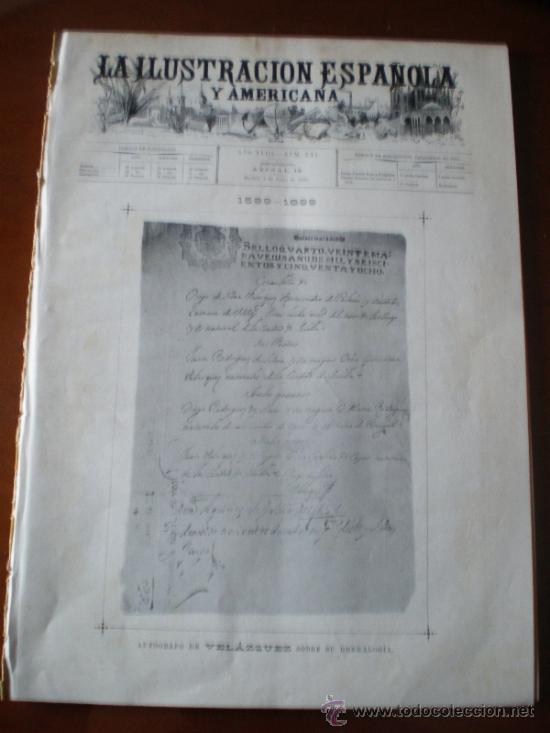 ILUSTRACION ESPAÑOLA/AMERICANA (06/06/99) VELAZQUEZ (Coleccionismo - Revistas y Periódicos Antiguos (hasta 1.939))