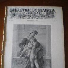 Coleccionismo de Revistas y Periódicos: ILUSTRACION ESPAÑOLA/AMERICANA (08/01/04) DANIEL PEREA BENLLIURE MORENO CARBONERO SAN SEBASTIAN . Lote 34883866