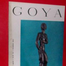 Coleccionismo de Revistas y Periódicos: REVISTA DE ARTE GOYA Nº 59 1964 . Lote 34912511