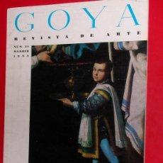 Coleccionismo de Revistas y Periódicos: REVISTA DE ARTE GOYA Nº 54 1963 . Lote 34912726